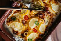 Kaboompics - Fish casserole with lemon and herbs