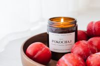 Kaboompics - Candle in a jar - plums - furniture