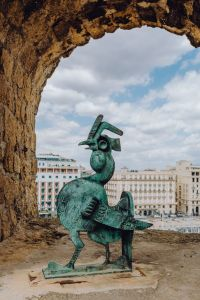 Kaboompics - Bronze Rooster in the Castel dell Ovo (Egg Castle), Naples, Italy