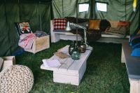 Kaboompics - Interior of military styled tent
