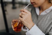 Kaboompics - Woman with glass of Spritz Aperol