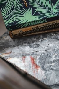Kaboompics - Notebooks on a marble table