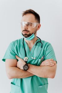 Kaboompics - Young male doctor in mask