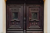 Kaboompics - Photos from a walk around Zamość, Poland. Antique wooden doors.