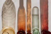 Shadows of Glass Bottles - background