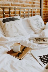 Kaboompics - Morning coffee in bed - working in bed