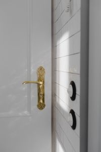 Antique gold plated door handle & light switch