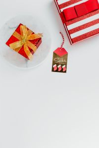 Kaboompics - Christmas background with red gifts