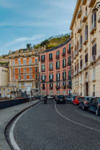 Kaboompics - Street with colourful tenement houses in Naples