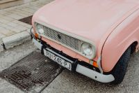Kaboompics - Pink Renault 4 on the street in the city of Rovinj, Croatia