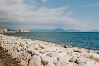 Kaboompics - View of dell'Ovo castle, Vesuvius volcano and maybe Tyrrhenian, Naples, Italy