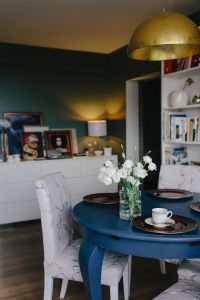 Kaboompics - Modern dining room with blue table