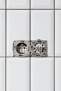 Kaboompics - Electrical Outlets Over White Tile