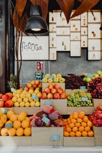 Kaboompics - A fresh fruit assortment displayed at San Miguel Market