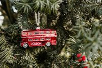 Kaboompics - Christmas tree decoration in the shape of a red London bus