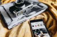 Kaboompics - Life on Instagram Book, iPhone mobile and Vintage Camera