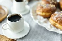 Kaboompics - A cup of Coffee with Homemade Donuts
