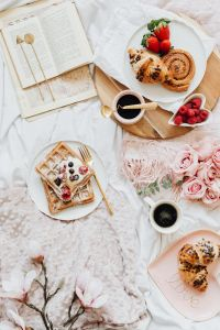 Kaboompics - Waffles - Croissant - Cinnamon Roll - Home Decor