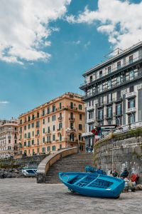 Kaboompics - Old buildings - architecture of Naples & blue fishing boat