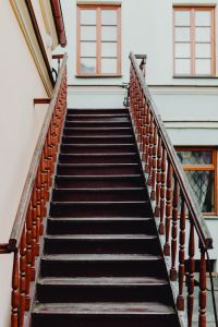 Kaboompics - Photos from a tour of Zamość, Poland. Old wooden stairs.