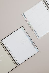 Kaboompics - Planner on beige background