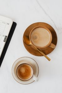 Kaboompics - Coffee - Weekly Planner on Marble