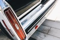Kaboompics - Close up of antique black and chrome Cadillac car