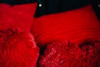 Kaboompics - Details of romantic red bedding