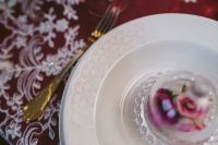 Table Decorations for Valentine: White Plate