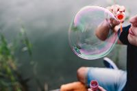 Kaboompics - Having fun with soap bubbles in the nature