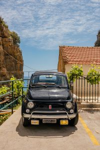 Kaboompics - Old Black Fiat 500