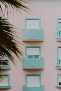 Kaboompics - Pastel pink & light blue building, Lagos, Portugal