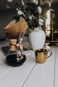 Kaboompics - Chemex Coffee Maker with Gold Cup