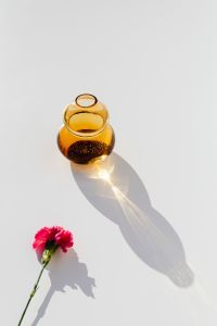 Kaboompics - Still Life Composition With Glass Vases And Flowers