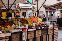 Kaboompics - Fruit market with various colorful fresh fruits