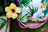 Kaboompics - Hibiscus Flower and Tropical Pillows
