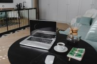 Kaboompics - Workplace with laptop on table at home