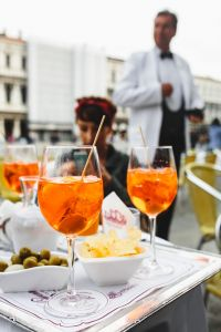Kaboompics - Aperol Spritz is a cocktail consisting of prosecco, aperitif and soda water