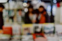 Kaboompics - Blur image of a bookstore