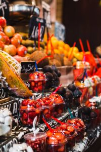 La Boqueria food market Barcelona Spain