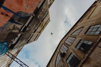 Kaboompics - Buildings, sky, airplane, LX Factory, Lisbon, Portugal
