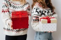 Kaboompics - Women with Gifts Wearing Christmas Sweater