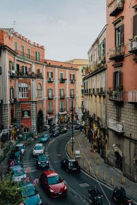 Kaboompics - Street with cars and old tenement houses in Naples