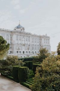 Kaboompics - View of the Royal Palace of Madrid through the gardens, Spain