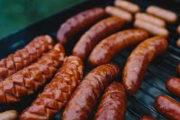 Sausages on the grill