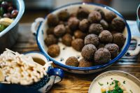 Kaboompics - Traditional Middle Eastern lamb kofta dinner