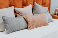 Cushions on the bed - pillows - bedroom