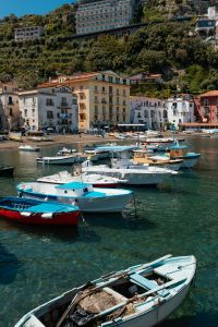 Kaboompics - Small fishing boats at harbor Marina Grande in Sorrento, Campania, Amalfi Coast, Italy