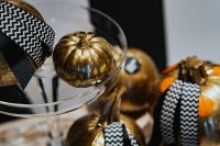 Kaboompics - Golden ornamental pumpkins decorations