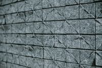 Kaboompics - Wall covered with grey material